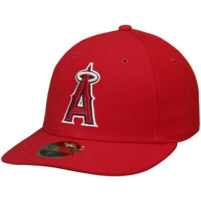 online store 04dcf b4c8c Los Angeles Angels New Era 50th Anniversary Low Profile 59FIFTY Fitted Hat-  Red