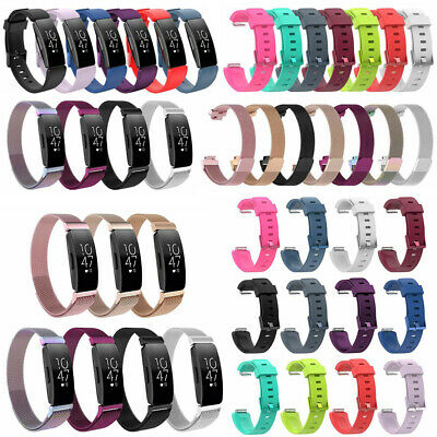 Silicone / Milanese Loop Bracelet Wrist Band Strap For Fitbit Inspire/Inspire HR