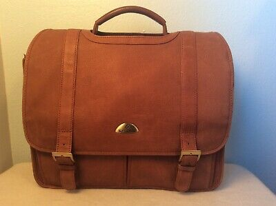Samsonite Flapover Expandable Leather Business Briefcase Laptop Portfolio