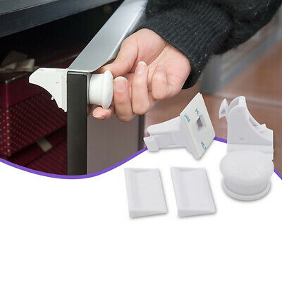 White Invisible Magnetic Baby Child Pet Proof Cupboard Door Drawer Safety Lock