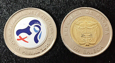JMJ* Panama coins new issue 1 balboa 2018-2019 year Oratorio San Felipe Neri