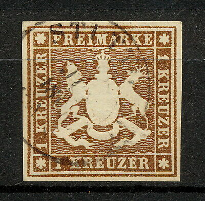 (YYAO 628) Wurttemberg 1859 Stuttgart  USED Mich 11 Scott 13 Germany