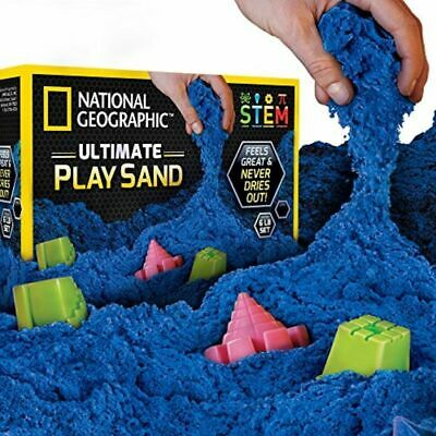 National Geographic Play Sand - 6 LBS Sand Castle Molds (Blue) - A Kinetic