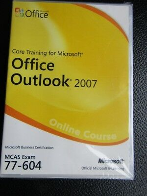 New - Core Training For Microsoft Office Outlook 2007 Very Rare New/Sealed