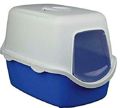 Cat Litter Tray W/ Dome Lid & Door Hooded Deep Kitten Toilet Box Large Portable