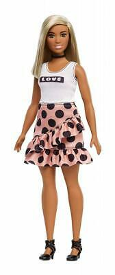 Barbie Fashionistas Doll 103 - Brunette with Color-Blocked Dress Kid Toy Gift