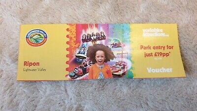 Lightwater Valley Park ticket Voucher Coupon. Park entry £19.99. NO ONLINE USE