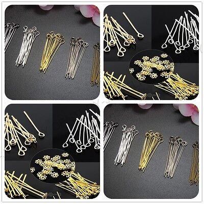 100Pcs Silver Plated Head/Eye/Ball Pins Jewelry Finding Any Size to Choose