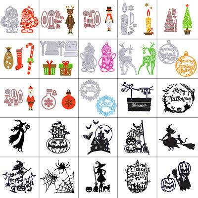 2018 Christmas Metal Cutting Dies Stencil Scrapbooking Cards Embossing Die-Cut