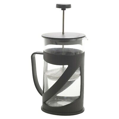 600ml Black Glass French Press Kitchen Coffee Maker Cafetiere Plunger Reusable