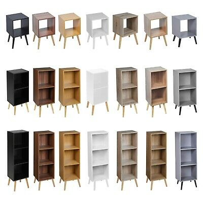 Wooden Storage Cube Bookcase Scandinavian Style Legs Living Room Bedroom Unit