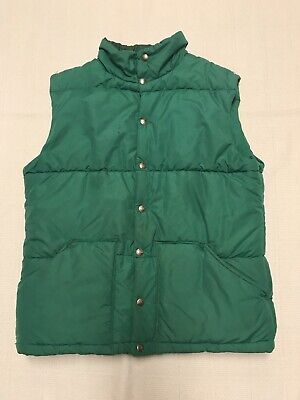 Vintage The North Face Puffer Quilted Green Vest Mens Size Large (NC18)