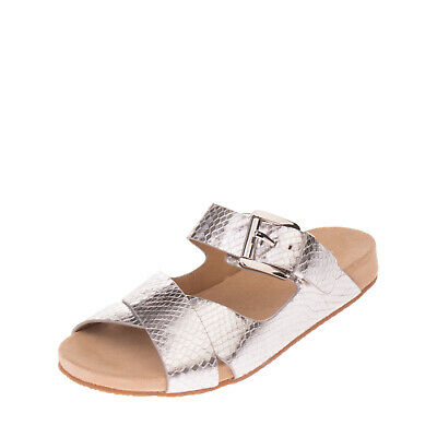 ffea4fd1362d MICHAEL MICHAEL KORS Leather Slide Sandals EU 36 UK 3 Embossed Snakeskin  Pattern