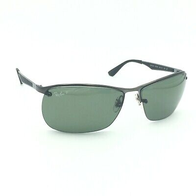 5ec5319583207 RAY-BAN RB 3526 029 9A Sunglasses - Gunmetal-Black w Green Polarized ...
