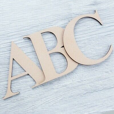 Georgia Bold Wooden Letters & Numbers 4mm Thick MDF Alphabet Letters & Numbers