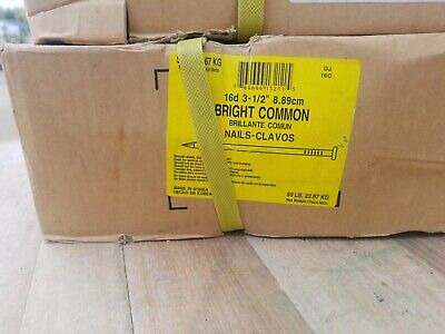 """5 pounds 16D 3-1//2/"""" Bright Common Nail"""