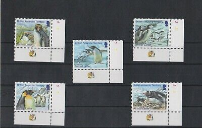British Antarctic Territory 2014 Penguins Airmail Letter Rate set  MNH per scan