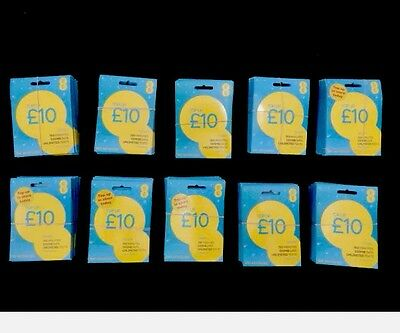 Wholesale Bulk Joblot Of 100xEE £10 £15 &£1Bundle Sim Cards Brand New And Sealed