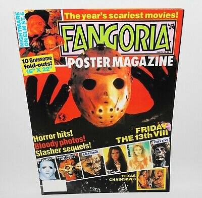 Fangoria Poster Magazine #5 Horror 1990 Friday The 13th Leatherface