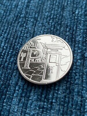 2019 Letter P 10p Post Box Royal Mint Great British Coin Hunt Ten Pence