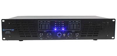 Technical Pro AX3000 3000 Watt 2 Channel 2U DJ Power Amplifier w/ 3 Band EQ