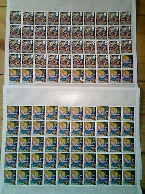 100 x 2nd CLASS PRE 2012 STAMPS £61 FV UNFRANKED OFF PAPER WITH GUM (134)