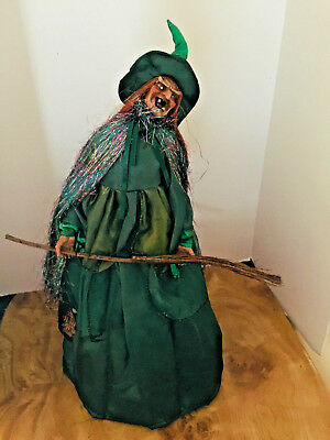 "Nwt-Collectible ""Roadpro"" Wicked Witch Collection Witch Doll Halloween Decor"