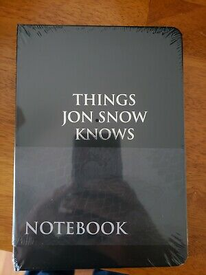 Game of Thrones Things Jon Snow Knows Journal Notebook CultureFly Exclusive RARE