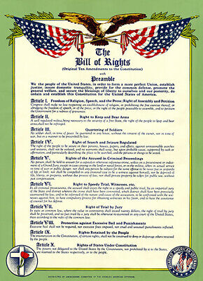 BILL OF RIGHTS POSTER 24X36