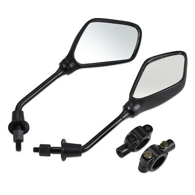 8mm Rearview Mirrors & Bracket Holder Clamp For Motorcycle Scooter ATV Motorbike