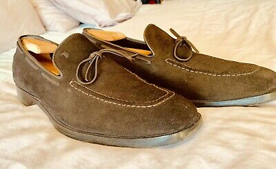 shades of look good shoes sale size 40 TODS MENS BROWN Suede Loafers Size 9.5 Tods 10.5 USA ...