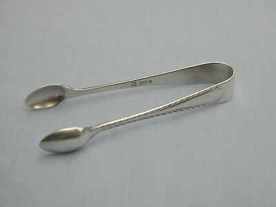 RARE COOPER BROTHERS SOLID STERLING SILVER SUGAR TONGS SHEFFIELD 1938 - 18.3g