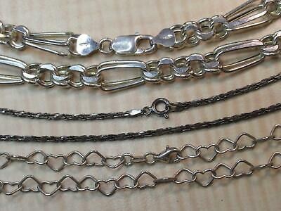 STERLING SILVER JEWELRY Fails Magnet Test Lot Heart Chime Chains