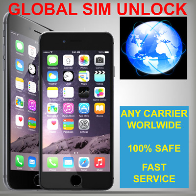 GLOBAL SIM UNLOCK ANY CARRIER APPLE iPHONE X 6 6s SE PLUS 7 8 * WORLDWIDE *