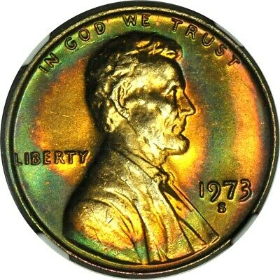 1973-S 1C Lincoln Cent NGC MS65RB **Kenosha Tone Cent Collection**