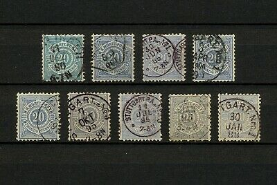 (YYAO 685) Wurttemberg 1875 - 1891 TYPE USED Mich 47 Scott 61 Germany