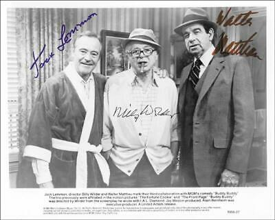 The Buddy Buddy Movie Cast - Printed Photograph Signed In Ink Circa 1981