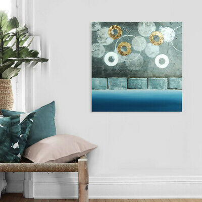 *Circles* Abstract Hand Painted Oil Painting Canvas Wall Art Home Decor Framed