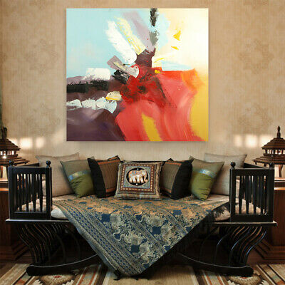 Pure Hand Painted Canvas Oil Painting Abstract Graffiti Art Home Decor Framed