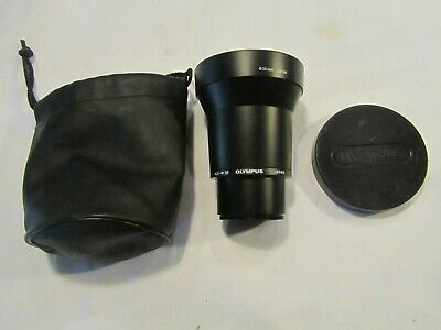 Olympus 1.7x Tele Conversion Lens 55mm w/ Cap & 45.6 - 55 olympus adapter