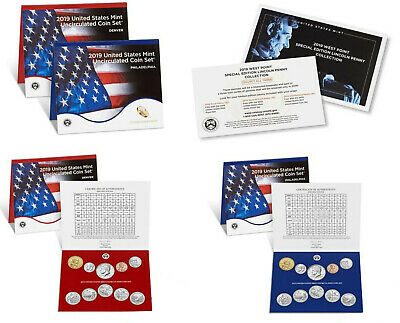2019 Uncirculated 20 Coin P/D 2 Sets 10ea, Less $ than Mint- In STOCK ! NO Penny