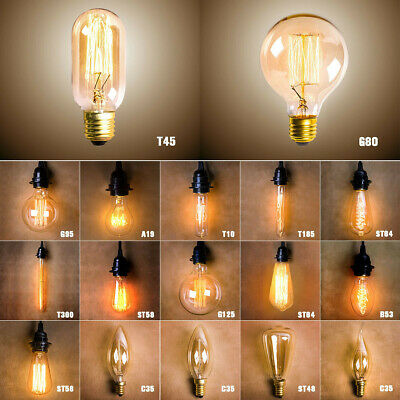 E27 40W Vintage Retro Edison Antique Industrial Style Filament Lamp Light Bulb
