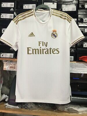 74abd9dd671 Adidas Real Madrid Home Jersey 2019/20 White And Gold Stadium Cut Size Small