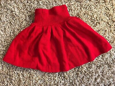Miniwaves Vintage Girls Size Large Bright Red Pleated Skirt Made In USA