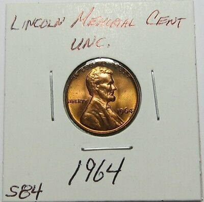 1964 LINCOLN MEMORIAL CENT ~ VERY NICE UNC. ~ Combined Shipping ~ LOT S84