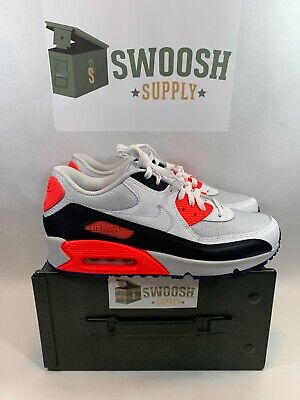 Details about NIKE AIR MAX 90 ID BLACKDARK GREY SOLAR RED WHITE SIZE MEN'S 10.5 [931902 994]