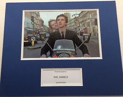 Phil Daniels Hand Signed Autograph 12x8 Photo Mount  Display Quadrophenia + COA