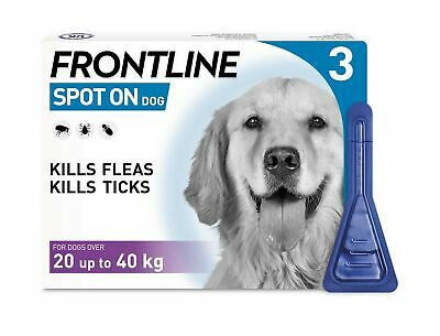 FRONTLINE Spot On Flea & Tick Treatment for Large Dog (20-40kg) 3 Pipettes