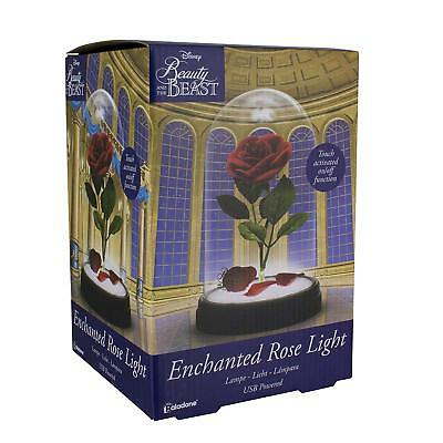 Official Disney Beauty And The Beast Enchanted Rose Replica Night Light Lamp