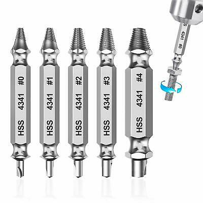 6pcs Speed Out Screw Drill Bits Extractor Stripped Damaged Bolt Remover Kit
